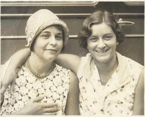 "Wilhemina ""Bill"" Vann and Marjorie Cain, Honolulu"