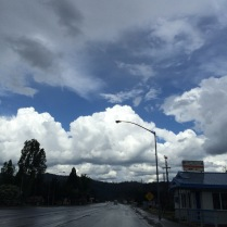 Changeable weather in the mountains. Quincy, CA